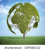 tree with the leafs forming the ... | Shutterstock . vector #109383122