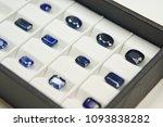 a lot of blue sapphire set of... | Shutterstock . vector #1093838282