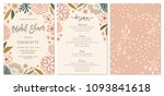 rustic hand drawn bridal shower ... | Shutterstock .eps vector #1093841618