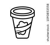 plastic tub bucket container... | Shutterstock .eps vector #1093853558