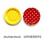 closeup a yellow and a red... | Shutterstock . vector #1093858592