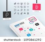 public services line icons. set ... | Shutterstock .eps vector #1093861292