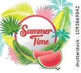 summer time vector banner... | Shutterstock .eps vector #1093869842