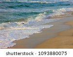 beautiful beach with crystal... | Shutterstock . vector #1093880075