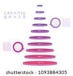 set of pyramid chart   flow... | Shutterstock .eps vector #1093884305