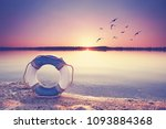 greetings from the beach   life ... | Shutterstock . vector #1093884368