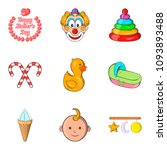 mom icons set. cartoon set of 9 ... | Shutterstock . vector #1093893488