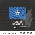 somalia flag  vector sketch... | Shutterstock .eps vector #1093918532
