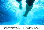 swimmer in the swimming pool. | Shutterstock . vector #1093924238