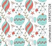 christmas vector seamless... | Shutterstock .eps vector #1093927328