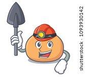 miner mochi mascot cartoon style | Shutterstock .eps vector #1093930142