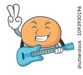 with guitar mochi mascot... | Shutterstock .eps vector #1093930196