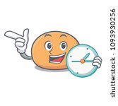 with clock mochi character... | Shutterstock .eps vector #1093930256