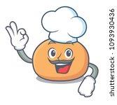 chef mochi character cartoon... | Shutterstock .eps vector #1093930436
