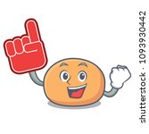 foam finger mochi mascot... | Shutterstock .eps vector #1093930442