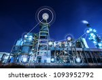 smart factory with icon | Shutterstock . vector #1093952792