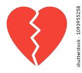 broken heart shape | Shutterstock .eps vector #1093955258