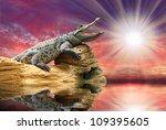 The Crocodile Against Sunset...