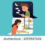 vector illustration couple boy...   Shutterstock .eps vector #1093967636