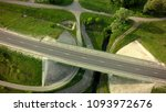 aerial top view of on road | Shutterstock . vector #1093972676