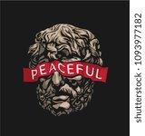 slogan on blindfold statue... | Shutterstock .eps vector #1093977182