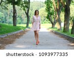 beautiful young blonde woman... | Shutterstock . vector #1093977335