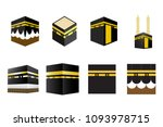 set of islamic vector design... | Shutterstock .eps vector #1093978715