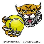 a wildcat angry animal sports... | Shutterstock .eps vector #1093996352