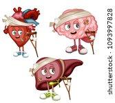 cartoon illustration of sad... | Shutterstock .eps vector #1093997828