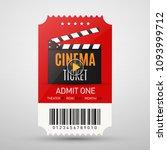 cinema ticket isolated on grey... | Shutterstock .eps vector #1093999712
