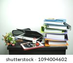 many file notebook tablet and ... | Shutterstock . vector #1094004602