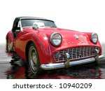 vintage sportscar with liquid... | Shutterstock . vector #10940209