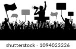 crowd of people with flags ... | Shutterstock .eps vector #1094023226