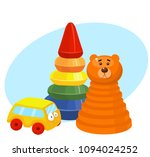 pyramid toy  car | Shutterstock .eps vector #1094024252