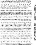 doodle borders | Shutterstock .eps vector #109402892