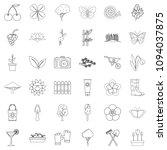 flower icons set. outline style ... | Shutterstock . vector #1094037875