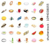 cooking icons set. isometric... | Shutterstock . vector #1094038055