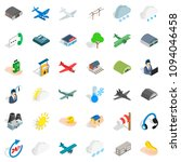 wind icons set. isometric style ... | Shutterstock . vector #1094046458