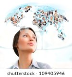 young successful woman looking... | Shutterstock . vector #109405946