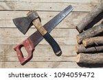 top view of woodman set of... | Shutterstock . vector #1094059472