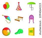 shallow icons set. cartoon set... | Shutterstock . vector #1094064215