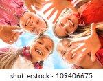 happy children having fun... | Shutterstock . vector #109406675