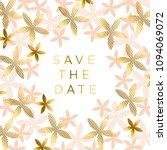 elegant rosy beige floral... | Shutterstock .eps vector #1094069072