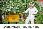 beekeeper is working with bees... | Shutterstock . vector #1094076182
