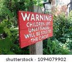 humorous garden sign  bricket... | Shutterstock . vector #1094079902