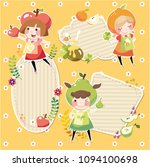 label sticker with girls and... | Shutterstock .eps vector #1094100698