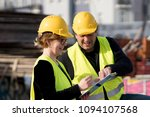 civil engineers  a man and a... | Shutterstock . vector #1094107568