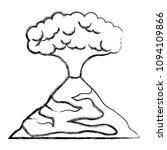 erupting volcano natural...   Shutterstock .eps vector #1094109866
