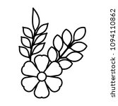 flower and leafs decorative icon   Shutterstock .eps vector #1094110862