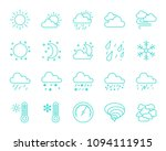 weather thin line icons set....   Shutterstock .eps vector #1094111915
